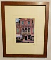 Martin Roberts HOTEL CANAL Custom Framed Art  Signed Matted and Framed