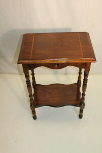 Charming Walnut Side End Table, c. 1930
