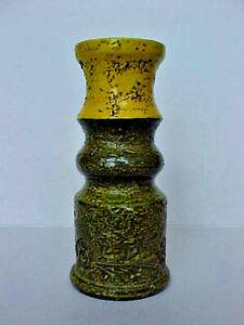 Old Mid Century Modern Bitossi Italian Pottery Vase Rosanthal Sticker