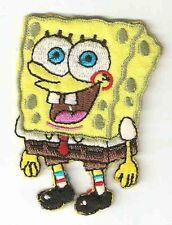 Spongebob Squarepants Embroidered Iron On/Sew On Patch