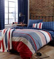 Catherine Lansfield  Stars and Stripes Reversible Duvet Cover Bedroom Range