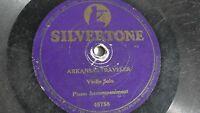 Violin Solo - 78rpm single 10-inch – Silvertone #46758 Arkansas Traveler