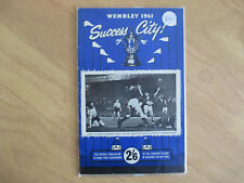 Wembley 1961 Success City Leicester Players Cup Final Official Publication