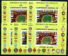 5x Paraguay 1979 Fußball WM Soccer FIFA Block 331 ** KW €250