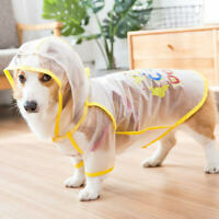 Corgi Small Dog Raincoat Transparent, protect dog's belly, Jacket for Small Dog