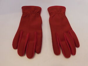 *DESIGNER LADIES RED NYLON & POLYESTER STRETCH GLOVES UNLINED SIZE ONE SIZE