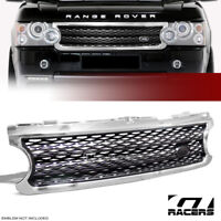 For 2006-2009 Land Range Rover Chrome/Black Mesh Style Front Hood Bumper Grille
