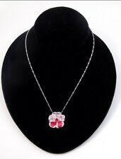 Swarovski Necklace. Flower Nikita. Rare Nib. Rose pendant jewelry red