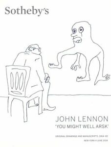 """Sotheby's catalogue John Lennon """"You Might Well Arsk"""" 2014 HB"""
