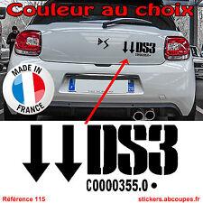 Sticker autocollant pour coffre DS3 - Citroen Racing DS 3 Racing Malle Arr - 115