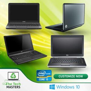 """Dell/HP Intel Core i5 4/8GB RAM 120/240GB SSD/500GB HDD Win 10 14"""" Laptop WiFi"""