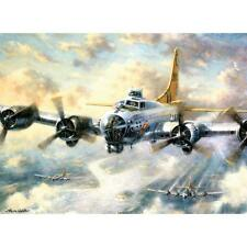 "FLYING FORTRESS Paint By Number Kit 15.75"" x 11.25"" Airplane Aircraft Plane"