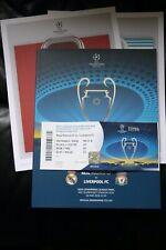 REAL MADRID V Liverpool 2018 CHAMPIONS LEAGUE FINALE programma/poster e Biglietto