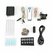 Complete Tattoo Kit Equipment Machine Needles Power Supply Gun Color Inks Set