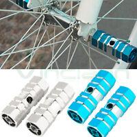 Coppia pedali poggia piedi assi pedaline poggiapiedi alluminio bici bicicletta