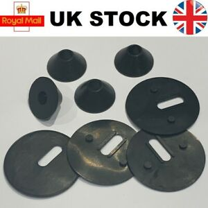 Non Slip Toilet Seat Fittings to fix LOOSE METAL HINGES plus base plate washers