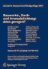 Aachener Bausachverständigentage 2017 (2017, Taschenbuch)