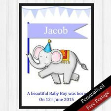 Newborn Baby Gifts Personalised for Boy. Baby Birth Keepsake Newborn. PRINT ONLY