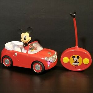 Disney Junior Mickey Mouse Red Roadster Car RC Remote Control Toy With Remote