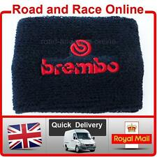 Small BREMBO Rear Brake / Clutch Reservoir Sock Cover Shroud Embroidered Cotton