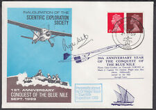 1969/1986 1st&20th Anniv. Conquest of Blue Nile; Concorde;signed Dr.David West