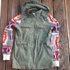 Thread & Supply Military Jacket S Southwestern Sweater Knit Sleeve Hoodie Womens