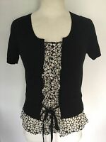 Next Ladies Layered Short Sleeve Top Size 8. New With Tags.