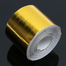 """2""""x15"""" Roll Self Adhesive Reflective Gold High Temperature Heat Shield Wrap Tape"""