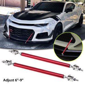 """Adjust 6""""-9"""" Front Bumper Sporty Bars Strut Support Stabilizer For Chevy Camaro"""