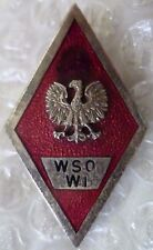 Badge- Poland Polish Military Graduation badge Engineering Force Badge/ WSO-WI