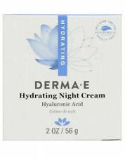 Derma E Hydrating Night Cream Hyaluronic Acid & Green Tea 2 oz Moisturizer Face