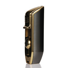 CIGARISM Triple Torch Jet Flame Gloss Finish Cigar Lighter W/ Punch (Breen)