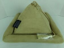 Peeramid Book Rest Tablet Pillow Tan with Tassle Pyramid