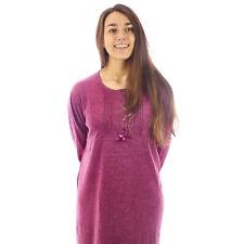 Camicia da notte donna  invernale in caldo cotone interlock felpata  7DICAM030