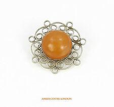RARO,vintage spilla fatta di genuinebutterscotch RUSSO baltica amber-1960s-b5775