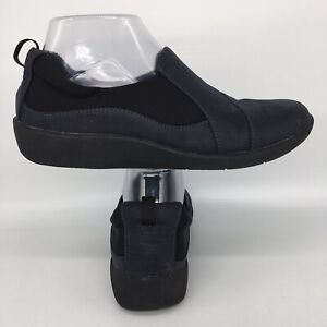 Clarks Cloud Steppers Sillian Paz Slip On Black Loafers Womens US 8 M