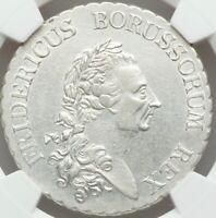 1786A German States Prussia, Frederick II, Silver Taler DAV-2590, NGC AU50