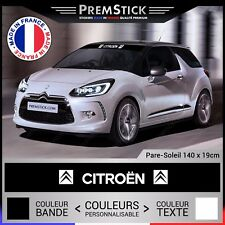 Sticker Pare Soleil Citroen - Autocollant Voiture, Stickers Rallye, Racing, ref3