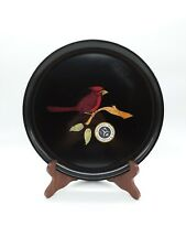 """Vintage Couroc of Monterey Cardinal Inlay 10 1/2"""" Serving Tray"""