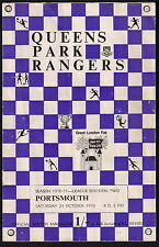 Queens Park Rangers v Portsmouth, 24 October 1970, Programme