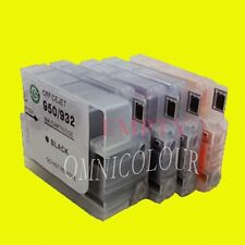 4 empty compatible refillable cartridge for HP950 951 HP 950 w chips +ink level