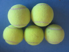 LOT O 5 FIVE Dead Tennis Balls Dogs Fetch chew toys play catch chew park mixed