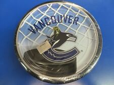 "Vancouver Canucks NHL Pro Hockey Sports Banquet Party 9"" Paper Dinner Plates"