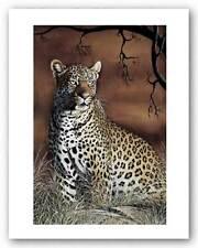 WILDLIFE ART PRINT Sitting Leopard Singh