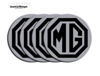 MG ZR Wheel Centre Caps Badges Black Silver 80mm Badge Set MG Logo