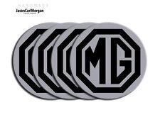 MG ZR ZS ZT Wheel Centre Caps Badges Black Silver 80mm MG Logo Cap Badge Set