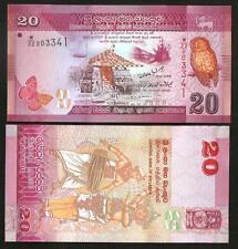 SRI LANKA 20 Rupees 2010 2011 UNC P 123