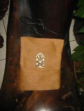 Brown with Bone Man Passport Bag