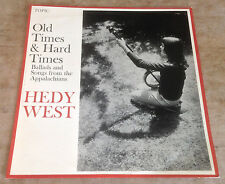 HEDY WEST old times & hard times 1965 UK BLUE TOPIC MONO VINYL LP