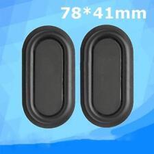 1 Paar Schwarz 78x41mm Basslautsprecher Passiv Radiator Zusatz-Bassgummis